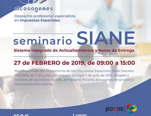 Seminario SIANE: Sistema integrado de  Avituallamientos y Notas de Entrega